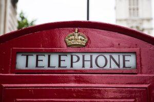 British proper phonebooth